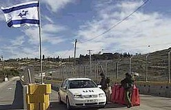 idf roadblock in w bank with un car