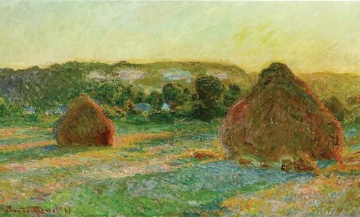 'Haystacks,' Monet, 1890
