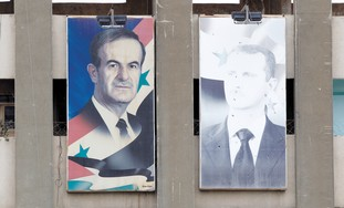 Pictures of Bashar, Hafez Assad