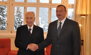Peres, Azerbaijani president Aliyev