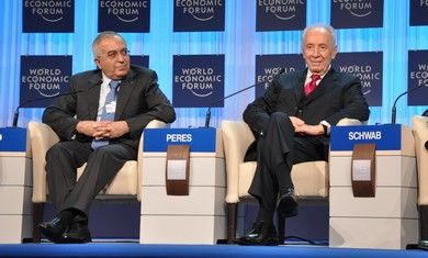 President Peres with PA Prime Minister Fayyad