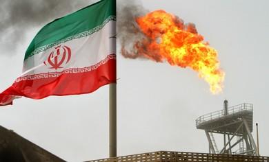 An Iranian gas platform