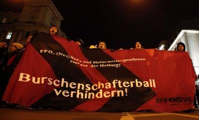 Anti right wing protest in Austri