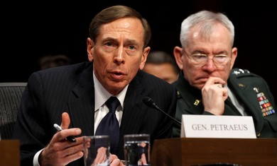 CIA Director David Petraeus in the US Senate