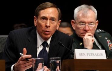 CIA Director David Petraeus in the US Senate