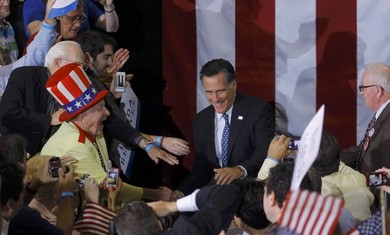 Romney with Florida supporters