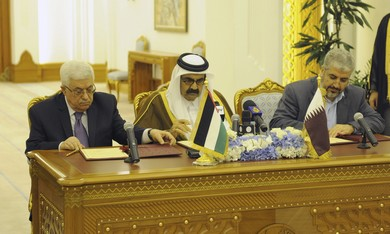 Abbas, Qatar's al-Thani, and Mashaal