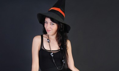 "A ""sexy"" witch costume."
