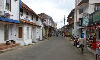 Jew Street in Mattancherry, India