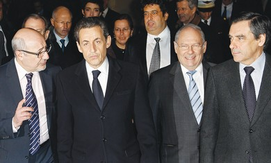 Sarkozy at annual CRIF dinner in Paris