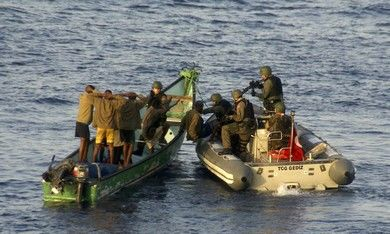 Turkish marines arrest suspected pirates [file]