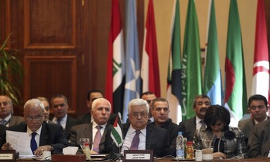 Abbas at Arab League in Cairo