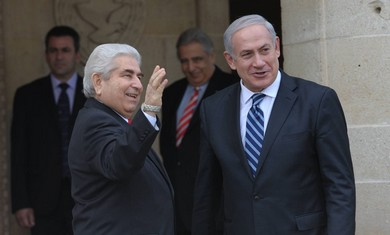 PM Netanyahu with Cyprus' Christofias
