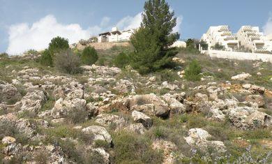 Looking up at Givat Masua