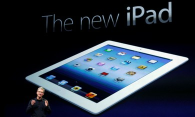 Apple CEO Tim cook unveils new iPad