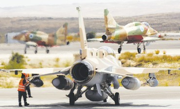 IAF A-4, F-16 jets at Hatzerim [file]