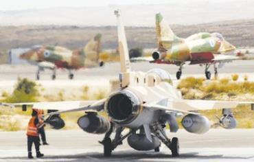 IAF A-4, F-16 jets at Hatzerim [file]