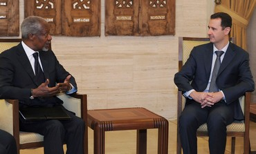Assad meets UN-Arab League envoy Kofi Annan