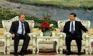 FM Liberman and China's Vice President Xi Jinping