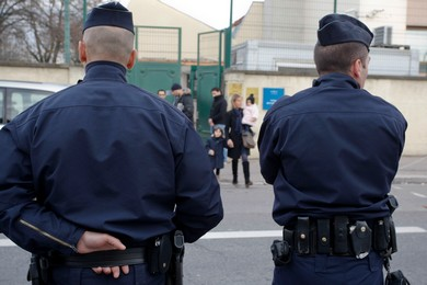 French police guard Ozar Hatorah Jewish school