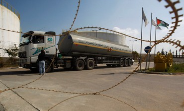 Fuel tanker arrives at plant in Gaza