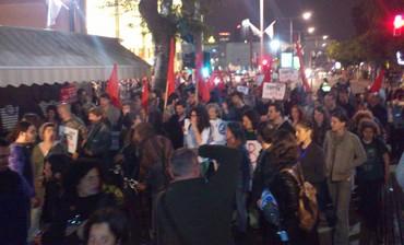 Tel Aviv rally against war with Iran