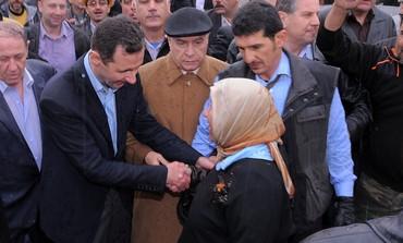 Assad visits Homs, Syria