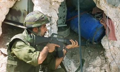 IDF soldier in Jenin in West Bank [file]