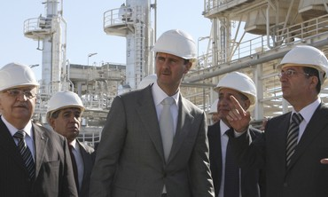 Assad tours natural gas plant near Homs