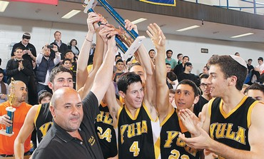 YULA PANTHERs hoist the 2012 trophy