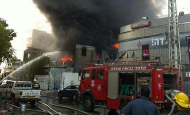 Fire at Ra'anana factory