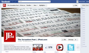 The Jerusalem Post's Facebook Timeline