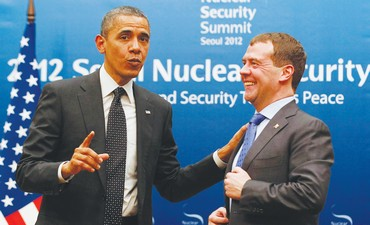 Barack Obama and Dmitry Medvedev