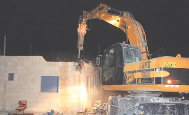 Migron home demolition in 2011