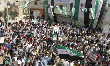 Syrians demonstrate near Homs [file]