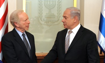 PM Netanyahu with US Senator Joe Lieberman