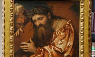 """""""Christ Carrying the Cross"""" by  Girolamo de Romani"""