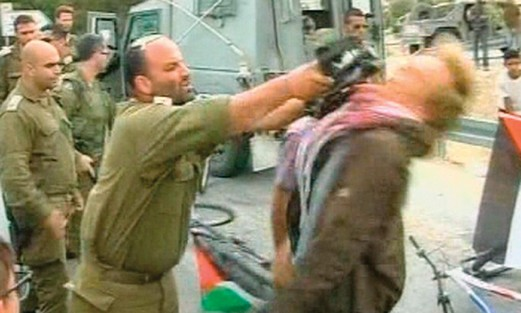 Shalom Eisner strikes protester