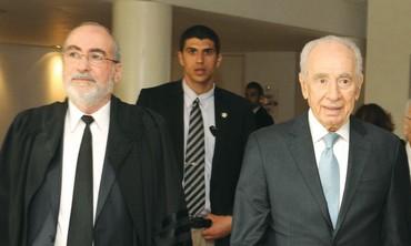 Supreme Court President Grunis, Peres