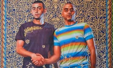 Kehinde Wiley art depicting Israeli men.