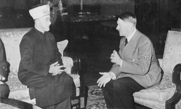 Palestinian Grand Mufti meeting with Adolf Hitler.