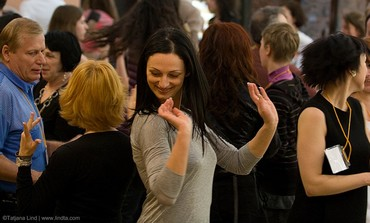 Russian-speaking Jew dances at Limmud confab