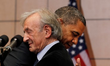 Obama and Elie Weisel