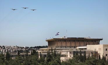 IAF planes over Knesset in J'lem, Independence Day