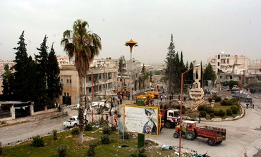 Site of bomb blast in Syria's Idlib