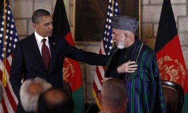 US President Obama and Afghan President Karzai