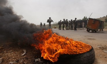 Protests near Ofer Prison on May 1