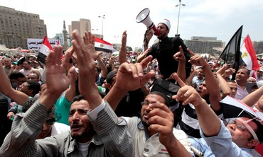 Protest after Friday prayers in Cairo