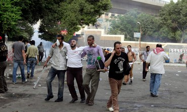 Tear gas affects protester in Cairo