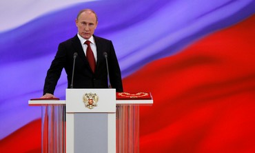Vladimir Putin sworn in as Russia's president.